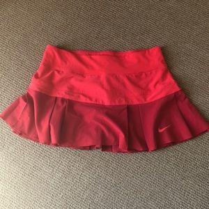 Nike Red dri-fit tennis skirt S